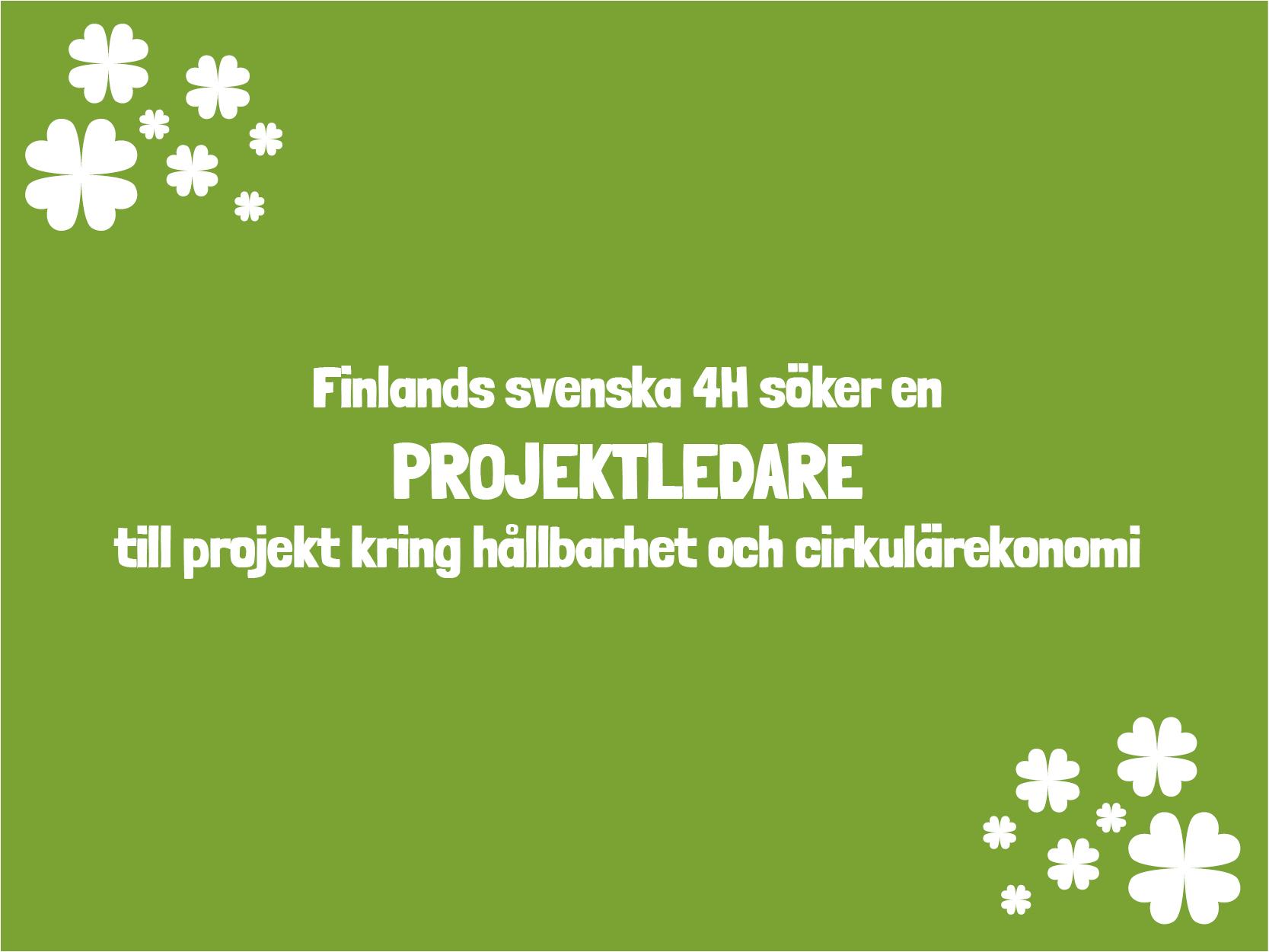 Finlands svenska 4H söker projektledare